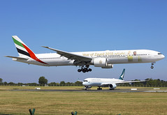 A6-ECY (QC PHOTOGRAPHY) Tags: dublin airport ireland june 30th 2018 emirates year zayed celebrating 100 years since birth great leader b777300 a6ecy