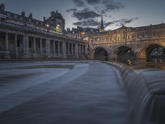 Always try to remember the good old days. (Wizard CG) Tags: bath cathedral bridge britain british church city england great landmark long exposure medieval pulteney reflection river roman baths scenic somerset tourist travel destination uk unesco world heritage site united kingdom water outdoor wideangle arch architecture landscape building ngc trekker micro four thirds 43 m43 olympus mzuiko digital ed attraction dusk watercourse blue hour