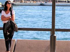 Sightseeing (thomasgorman1) Tags: woman canon tourist tourism travel sunshine australia sydney city urban street candid streetshots streetphotos water harbour