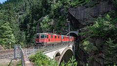 SBB Re 4'4 2 11237, SBB Re 4'4 3s 11368 & 11369 Obere Meienruess-brucke, Wassen 09 July 2015 (1) (BaggieWeave) Tags: switzerland swiss swisstrains swissrailways wassen gotthardrailway gotthard gotthardbahn sbb cff ffs re44 uri