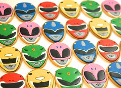 Power Rangers Cookies (kelleyhart) Tags: powerrangers powerrangerscookies birthdaycookies sugarcookies customcookies kelleyhart kidsbirthday