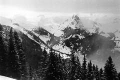Mountains near Gstaad (titan3025) Tags: leica leicam6 analog photography filmphotography ilford ilfordhp5 hp5 grainisgood