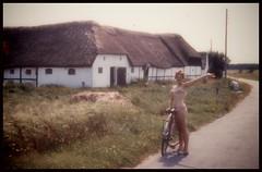 It is unsharp and grainy, but it was hot and it was summer... (iEagle2) Tags: woman wife summer denmark laesö ehefrau female femme frau film bikini bike bicycle