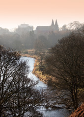 St. Machar Cathedral (PeskyMesky) Tags: aberdeen stmacharscathedral riverdon landscape city scotland tree sunrise sunset canon canon5d eos