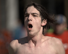 Breath (Scott 97006) Tags: guy man athlete runner race racing breath breathing gasping air oxygen shirtless bare