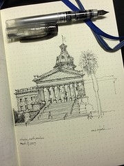 South Carolina State Capital, Columbia, SC (schunky_monkey) Tags: fountainpen penandink ink pen drawing draw illustration art journal sketchbook sketching sketch civic government building architecture statecapital southcarolina columbia