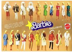 EUROPEAN/ITALIAN 'ALTA MODA' FUR & LEATHER COLLECTION FROM 1980-81 (ModBarbieLover) Tags: fur 1980 1981 barbie italian alta moda fashion doll mattel italy highfashion leather wool