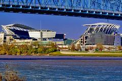 Paul Brown Stadium, 1 Paul Brown Stadium, Cincinnati, Ohio, USA / Built: 2000 / Architect: Dan Meis of the architectural firm NBBJ (Photographer South Florida) Tags: