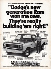 1982 Dodge Ram Pickup Truck Chrysler USA Original Magazine Advertisement (Darren Marlow) Tags: 1 2 8 9 19 82 1982 d dodge c chrysler r ram p pickup t truck car cool collectible collectors classic a automobile v vehicle u s us usa united states american america 80s