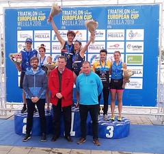 Team Clavería triatlón Melilla Copa Europa élite  júnior clasificatorio Campeonato España 1