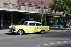cruise nite cars on the street (bballchico) Tags: cruisenight billetproofwashington carshow carsonthestreet 1955 chevrolet 2door sedan