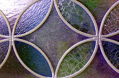 Designs in Glass (dmeeds (on and off)) Tags: stainedglass purple green circle diamond blue