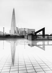 London 14 (0Hammer64) Tags: theshard london reflection reflections monochrome bw blackwhite architecture skyscraper skancheli absolutearchitecture nikon d800 1635mmf4 1635mm f4 longexposure