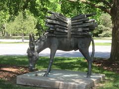 Work Ethic (D. S. Hałas) Tags: halas hałas canada ontario wentworthcounty hamilton royalbotanicalgardens botanicalgarden rockgarden sculpture statue marijankocković workethic donkey ass