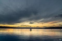 Sailing into the Sun (BobbyFerkovich) Tags: bristolsunsetrentonwashingtonlakewashington boat boating water clouds dusk twilight leisure golden hour