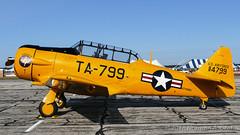 North American AT-6G Texan (Norman Graf) Tags: aircraft spence at6 at6g airshow 2017thunderovermichigan airplane northamerican 493368 harvard n799mu plane snj ta799 tom texan trainer wwii warbird