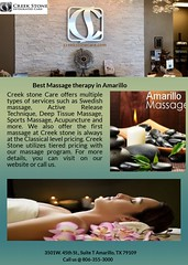 Best Massage therapy in Amarillo (creekstonecare) Tags: neck pain amarillo backpain chiropractic