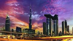 Dubai - Downtown & Burj Khalifa (mccrya) Tags: dubai bluehour night travel flickr sony skyscrapers city sunset a6000 lowlight