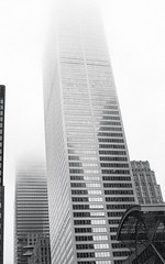 "Fog in the Downtown Core (Bill Smith1) Tags: ""bayst"" believeinfilm billsmithsphotography canonnewf1 fdn50f14lens hc110b heyfsc kodaktrix4001600 toronto"