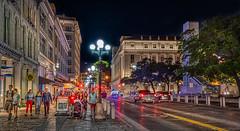 Evening On The Streets Of San Antonio (Stuart Schaefer Photography) Tags: lights night color bright building streetphotography nightlights outdoors outdoor travel travelphotography sanantoniotexas streetlights