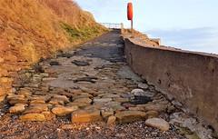 Collywell Bay - Path to the Beach (Gilli8888) Tags: cameraphone samsung galaxy s7 coast coastal eastcoast northeast northumberland northsea blyth blythbeach beach sand collywellbay bay rocks sunlight dawn seatonsluice