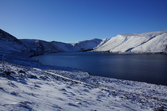 Glen Muick and Loch (steve_whitmarsh) Tags: aberdeenshire scotland scottishhighlands highlands mountain winter snow water loch lochmuick lake glen cairngorms topic abigfave