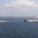 USS Chun-Hoon escorts container ship