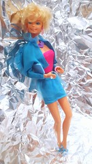 Barbie Dinner Date Fashion #9170 from 1989 (VintageZealot) Tags: barbie mattel 1980s 80s 1970s 70s 1989 1978 vintage fashion doll clothing clothes outfit super star pretty changes dinner date 2598 9170 superstar model modelling evening party suit taiwan diamond rhinestone crystal ring soft pink hoop earring earrings rose hot bracelet necklace purple light blue purse clutch mules blonde sandals heels high tube top lace jacket blazer skirt retro open toe heel white caucasian jewelry velcro