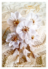 Sweet Simplicity (Kurokami) Tags: lindsay ontario canada kimono japan japanese asia asian woman women girl girls lady ladies traditional kitsuke tsumami kanzashi folded flower flowers floral hair ornament ornaments white gold sweet simple simplicity blossom blossoms pin pinrs fall falls