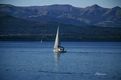 Serenidad (Adrit fotografías) Tags: patagonia bariloche agua water patagonian nature nautico clubnaúticobariloche velero argentina serenidad landscape blue