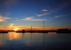 E79B1418 - Sunset (Arne J Dahl) Tags: canon clouds denmark limfjorden nordjylland sky solnedgang sunset vand water views harbor hals boat