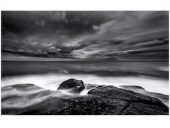 Bay of Fires (niggyl (well behind)) Tags: tasmania eastcoasttasmania binalongbay bayoffires larapuna tasmansea seascape sea coastal granite rocks cloud therebeastormabrewin cloudscape thefogandtherain longexposure theethereallongexposure blackandwhite bw monochrome monochromatic bnw bnwseascape lowkeyblackandwhite sonyilce7rm2 sony sonyalpha7 sonya7rii a7rii zeiss zeissbatis2818 zeissbatis1828 zeisslens zeissemount batis batis18mm batis218 breakthroughphotography 10stopndfilter silverefexpro2 colorefexpro2 nikcollection