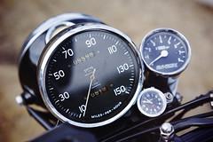"""Miles-per-hour"" (Eric Flexyourhead) Tags: surrey britishcolumbia bc canada southsurrey crescentbeach crescentbeachconcoursdelegance 2018 bike motorbike motorcycle detail fragment british english instruments speedometer tachometer gauge shallowdepthoffield bokeh sonyalphaa7 zeisssonnartfe55mmf18za zeiss 55mmf18"