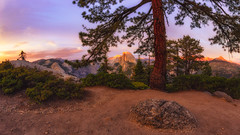 Half Dome from Glacier Point II (PNW-Photography) Tags: yosemite yosemitenationalpark nationalpark glacierpoint california sunset clouds sky landscape majestic scenic