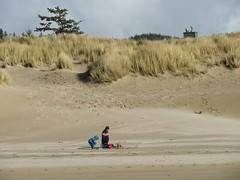 builders on the beach (carolyn_in_oregon) Tags: oregon pacificocean allie al jacob cannonbeach