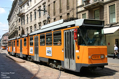 Milano 4910 (pretsend (jpretel)) Tags: milano atm tranvia articulado fiat 4900