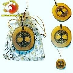 Tree of life Celtic Pagan Nordic Viking  Neolithic Eco Friendly Handmade Wooden Necklace Charms retrosheep.com (RetrosheepCharms) Tags: retrosheep handmade gifts deals giftideas