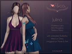 Julina (Ainadara Resident) Tags: i3f i3fco maitreya fashion original mesh event exclusive slink hourglass belleza freya dress butterflies butterfly animated bloom
