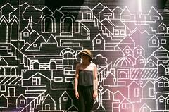 little smart houses (The_Last_Magnus) Tags: film analog analogue pentax 35mm 35mmfilm graffiti lightleak streetart toronto mural
