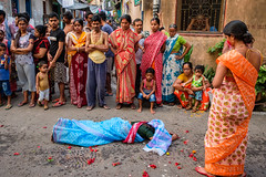 Dondi (SaumalyaGhosh.com) Tags: color india street streetphotography people gathering strange ritual hindu kolkata calcutta religious