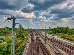 Rails (MAKER Photography) Tags: rails rail sky clouds trees leaves leaf tree metal iron stones city munich germany bavaria
