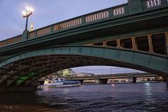 Under Southwark Bridge (marc.barrot) Tags: river landscape riverthames bridge uk se1 london southwark southwarkbridge
