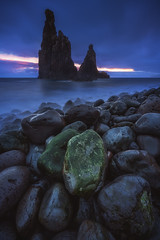 Madeira - Janela Sunrise (030mm-photography) Tags: rot madeira portugal ilheusdajanela seastack coast landscape nature cliffs rocks stones travel janela sea boulders