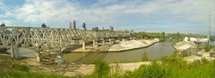 The Cuyahoga River in downtown Cleveland. (THE RESTLESS RAILFAN) Tags: