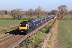 43079 Edington (finnyus) Tags: 43079 43078 hst intercity125 125 gwr fgw first neonblue westbury
