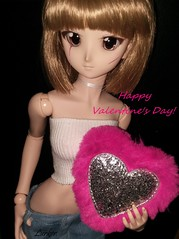 Happy Valentine's Day! (Lurkz D) Tags: spunky lurker doll vinyl dd dollfiedream volks