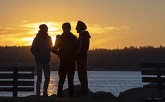 Sunset Silhouettes (Clayton Perry Photoworks) Tags: vancouver bc canada winter explorebc explorecanada sunset englishbay silhouette people