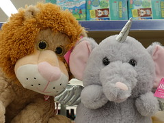 Valentine discount at Walgreens 2-19-19 03 (anothertom) Tags: coralvilleiowa shopping walgreens store aisle holidayitems lion unicornelephant horn cute valentinesdiscount plushtoys plushies 70off 2019 sonyrx100v