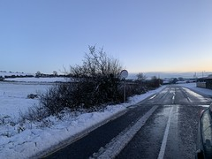 Snow day - Approaching Sunset - Freemount, County Cork (firehouse.ie) Tags: eire freemount sky sunset sundown evening dusk fields rural countryside landscape snowscape snow countycork highways highway roadways roads roadway road