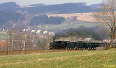1985-05 Schlettau (niek opdam) Tags: 86 schlettau crottendorf deutsche reichsbahn ddr steam engine dampflok